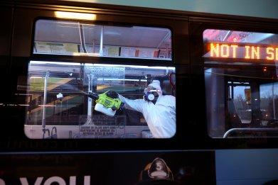 U.S coronavirus public transport