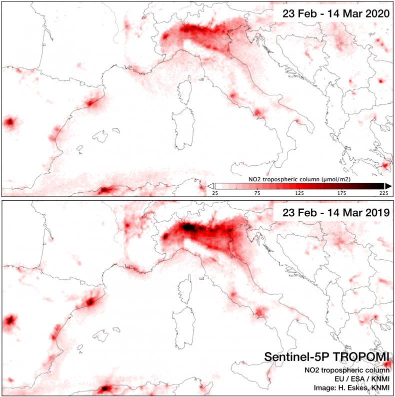nitrogen dioxide, Italy