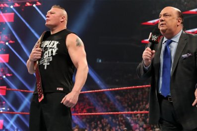 wwe monday night raw brock lesnar heyman
