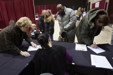 Unemployed Workers at Job Fair in 2009