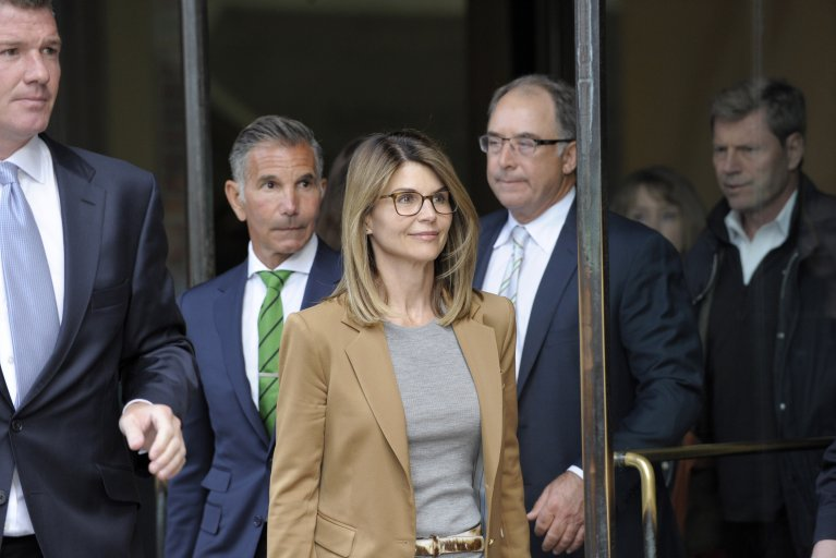 Lori Loughlin outside court