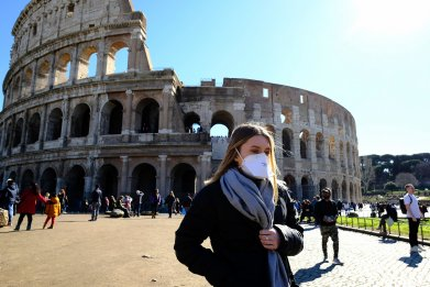 Rome coronavirus mask Feb 2020