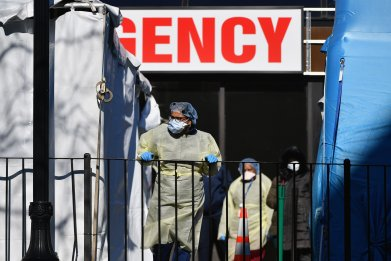 coronavirus cases new york overwhelm hospital cuomo