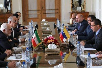 iran, zarif, venezuela, arreaza, meeting, tehran
