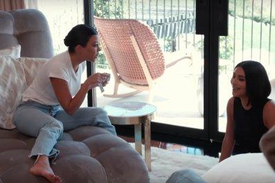 Kim and Kourtney Kardashian fight
