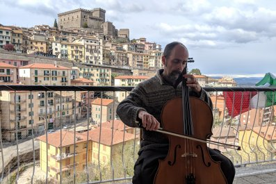 Locked Down in Italy Playing Music