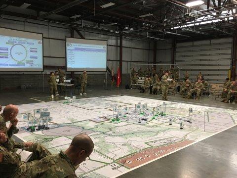 military conducts drill coronavirus