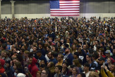 Bernie Sanders rally Los Angeles Convention Center