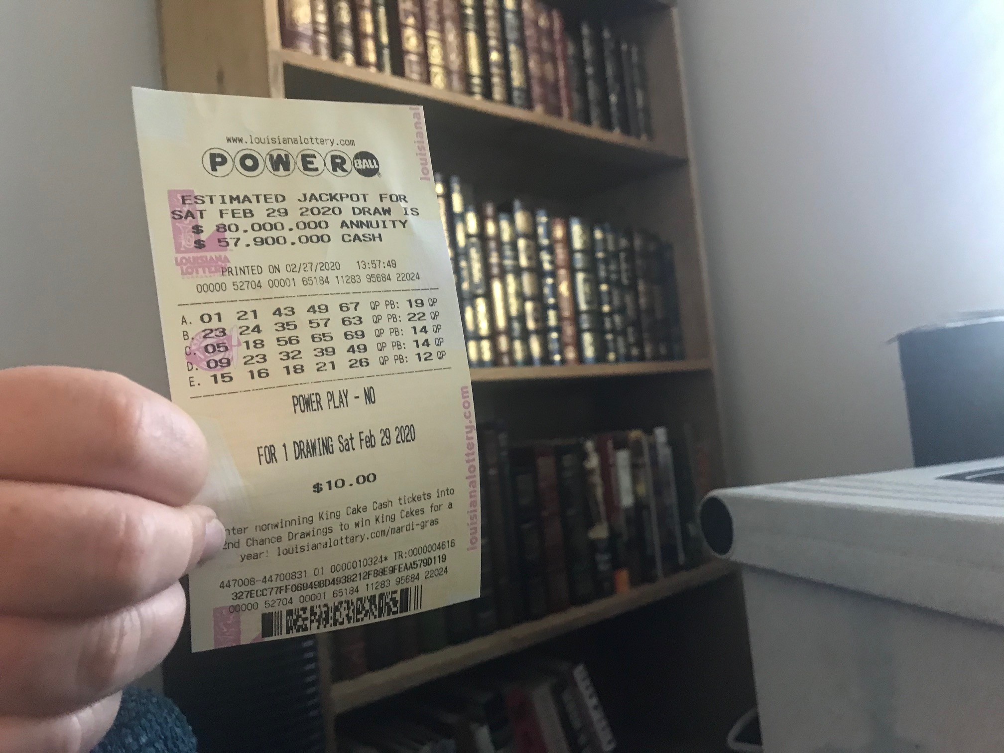 Powerball Numbers For 04 29 20 Wednesday Jackpot Was Worth 43 Million