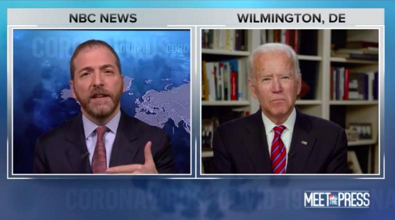 Chuck Todd and Joe Biden
