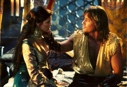 Kevin and Sam Sorbo on Hercules set