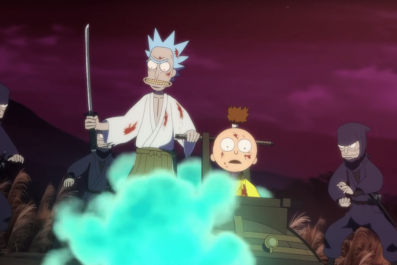 rick and morty samurai short