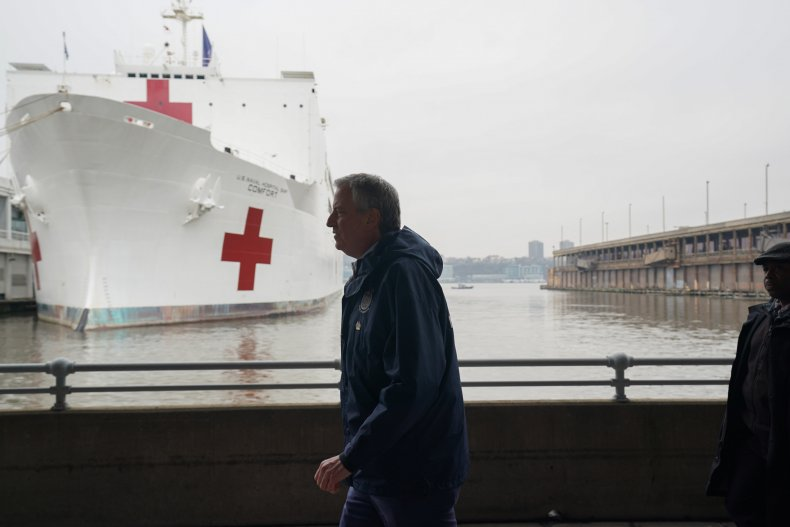 USNS Comfort, Mayor Bill de Blasio
