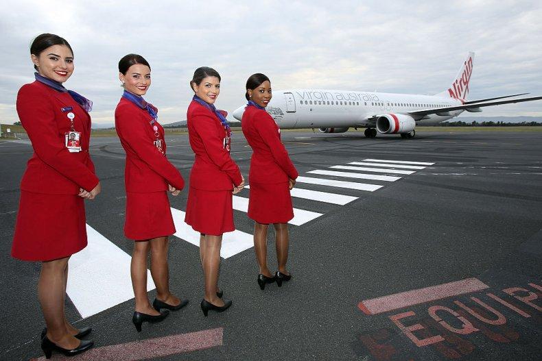 Virgin Australia staff on tarmac