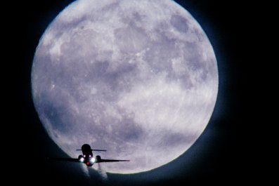 Stock image of supermoon