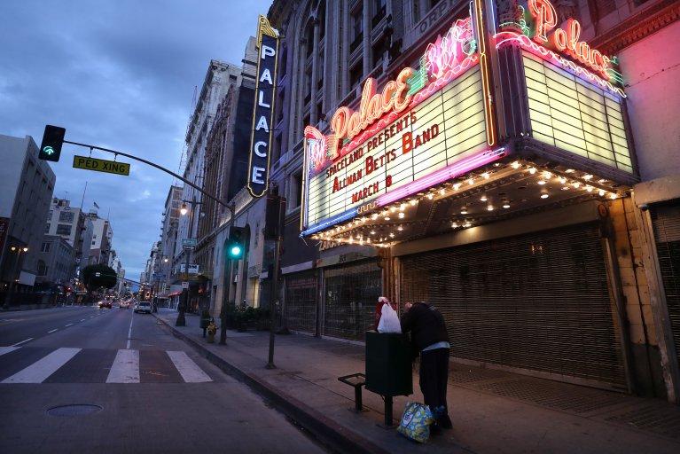 Palace Theatre, Los Angeles, coronavirus, March 2020