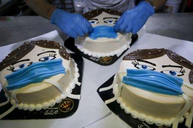 Coronavirus cake