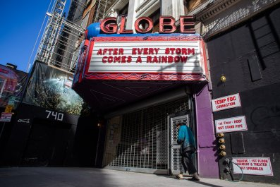 Close theater, LA, California, coronavirus, March 2020