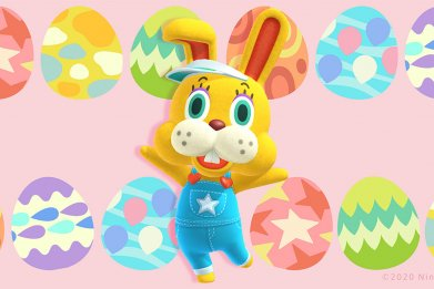 animal crossing new horizons bunny day zipper