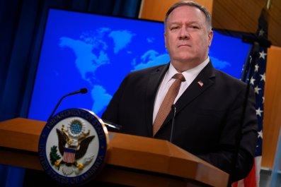 Mike Pompeo coronavirus disinformation China Russia Iran