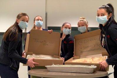 coronavirus pandemic heroes food nurses philadelphia