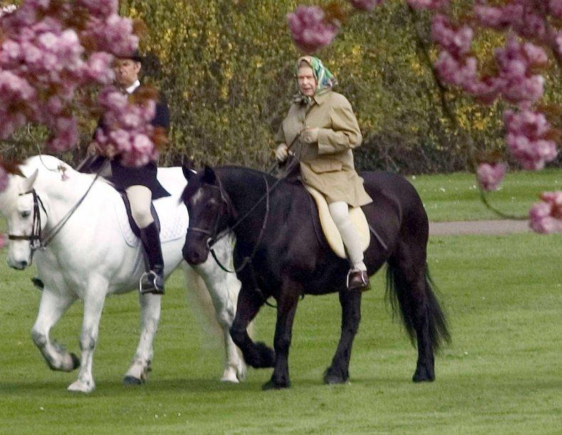 The Queen Horseriding In Windsor