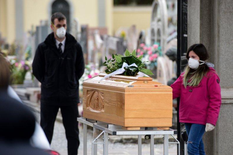 Coronavirus death funeral ceremony Italy March 2020