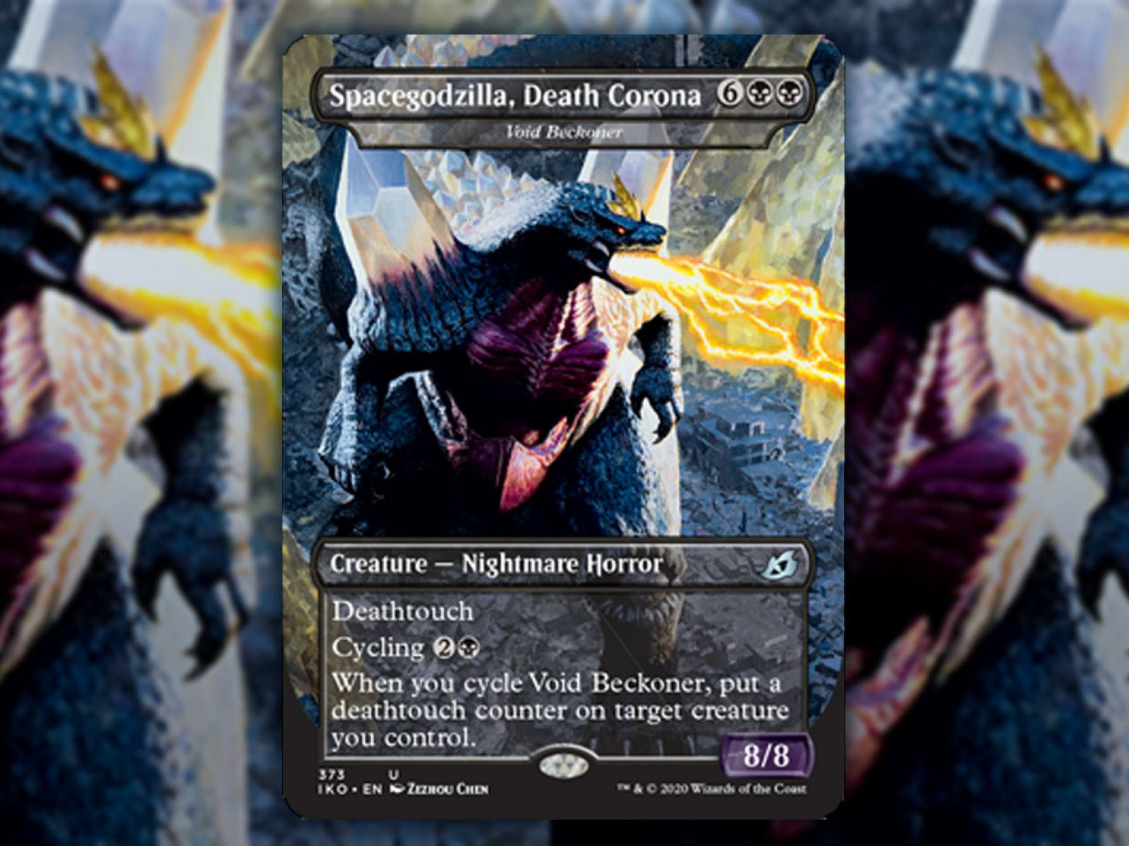Magic The Gathering Releases Spacegodzilla Death Corona In Next