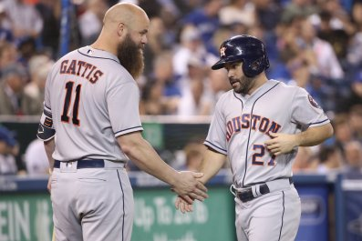Evan Gattis, Jose Altuve, Houston Astros