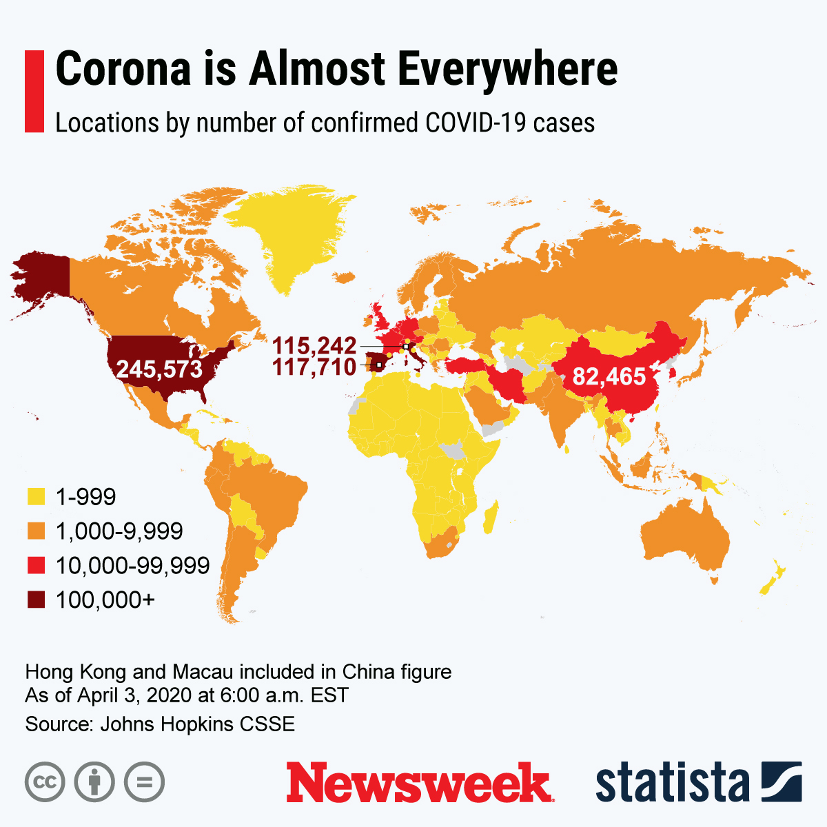 coronavirus, map, covid-19, countries, world