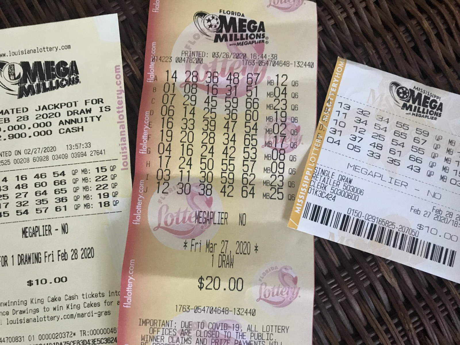 Mega Millions Numbers For 12 29 20 Tuesday Jackpot Was 376 Million