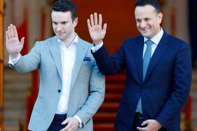 Leo Varadkar and partner