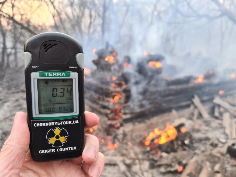 Chernobyl exclusion zone fire