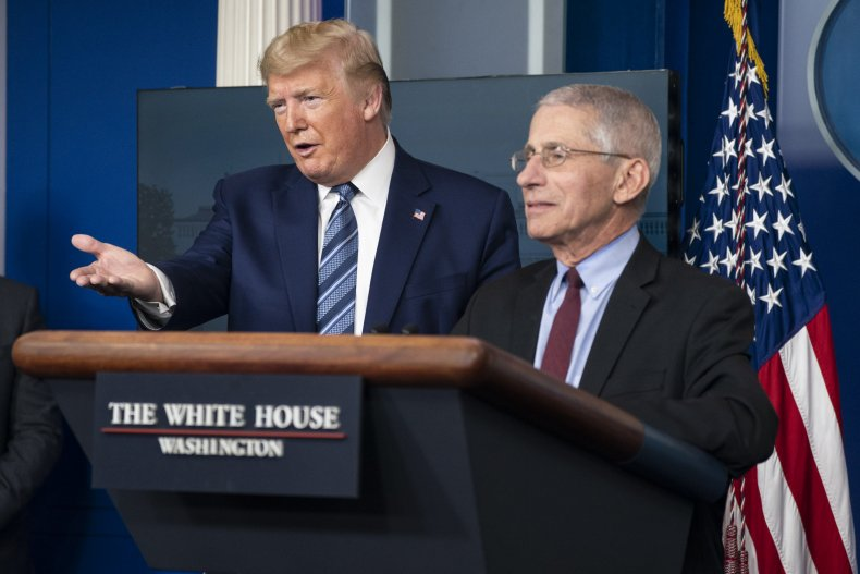 U.S. President Donald Trump and Anthony Fauci
