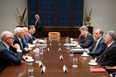 Pence Meets Raab at White House