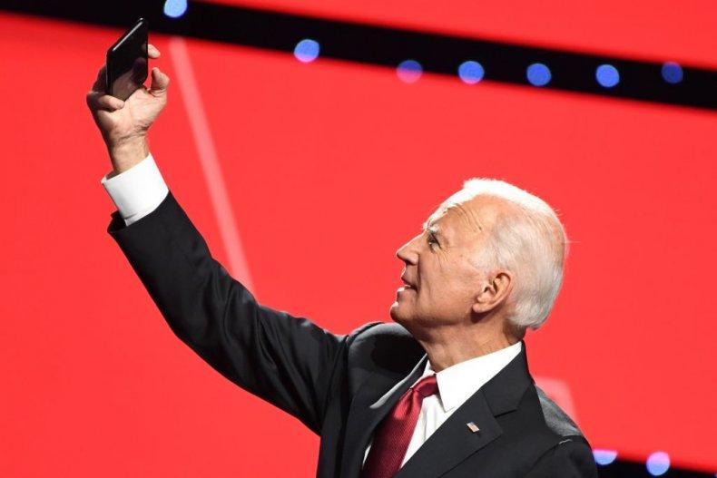 Joe Biden Takes Selfie at Debate