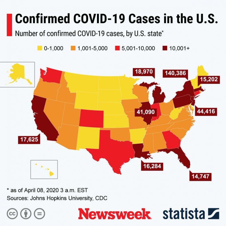 Coronavirus, update, April 8, Statista