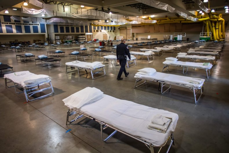 temporary hospital in Indio, California, March 2020