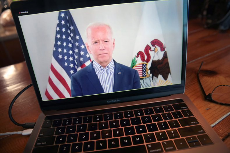 Biden Holds Virtual Town Hall