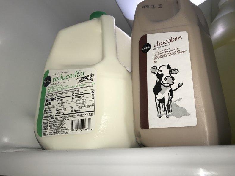 Publix Milk and Chocolate Milk