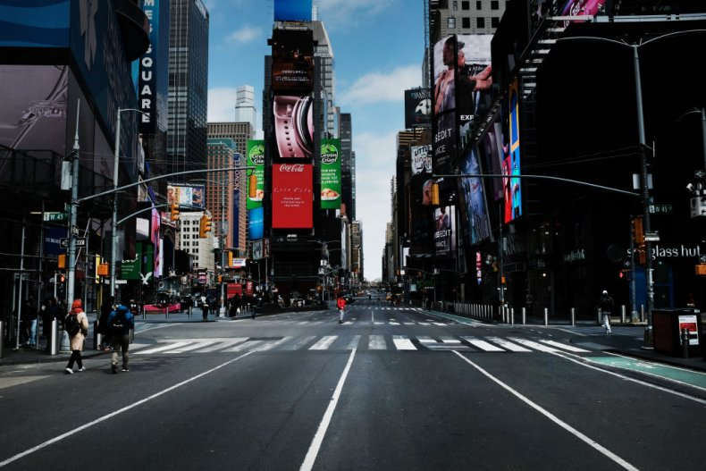 Times Square Empty COVID-19 Pandemic