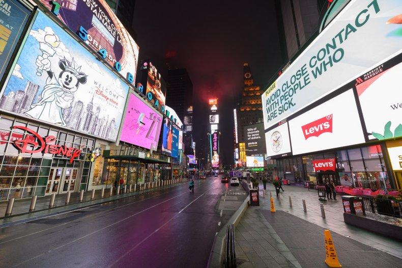 Times Square, NYC, coronavirus, March 2020