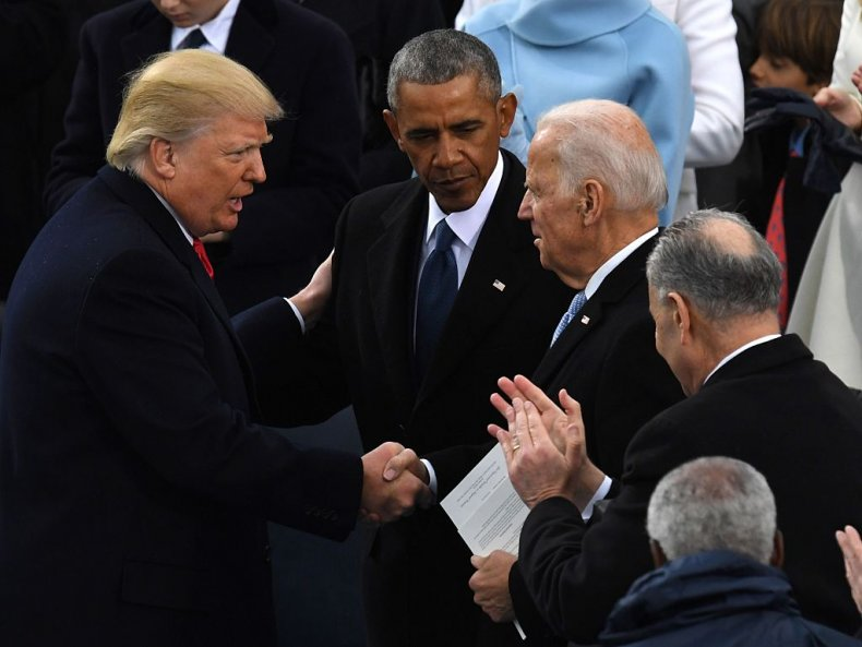 Donald Trump, Barack Obama and Joe Biden