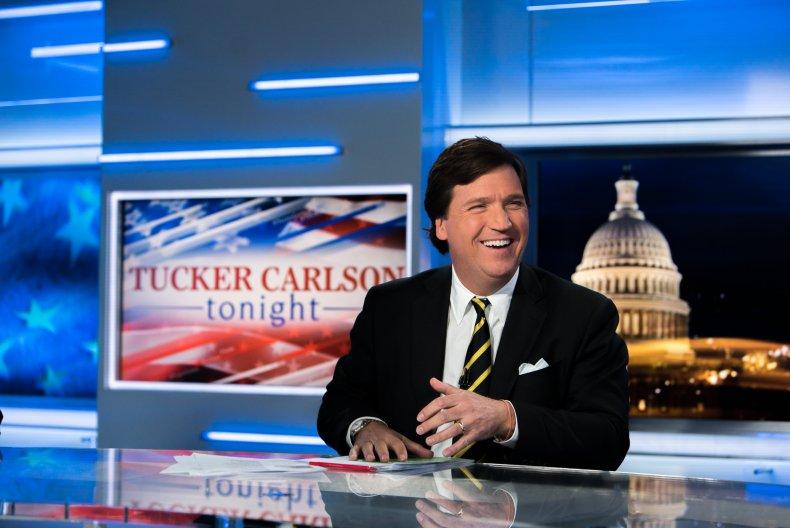 Tucker Carlson in studio