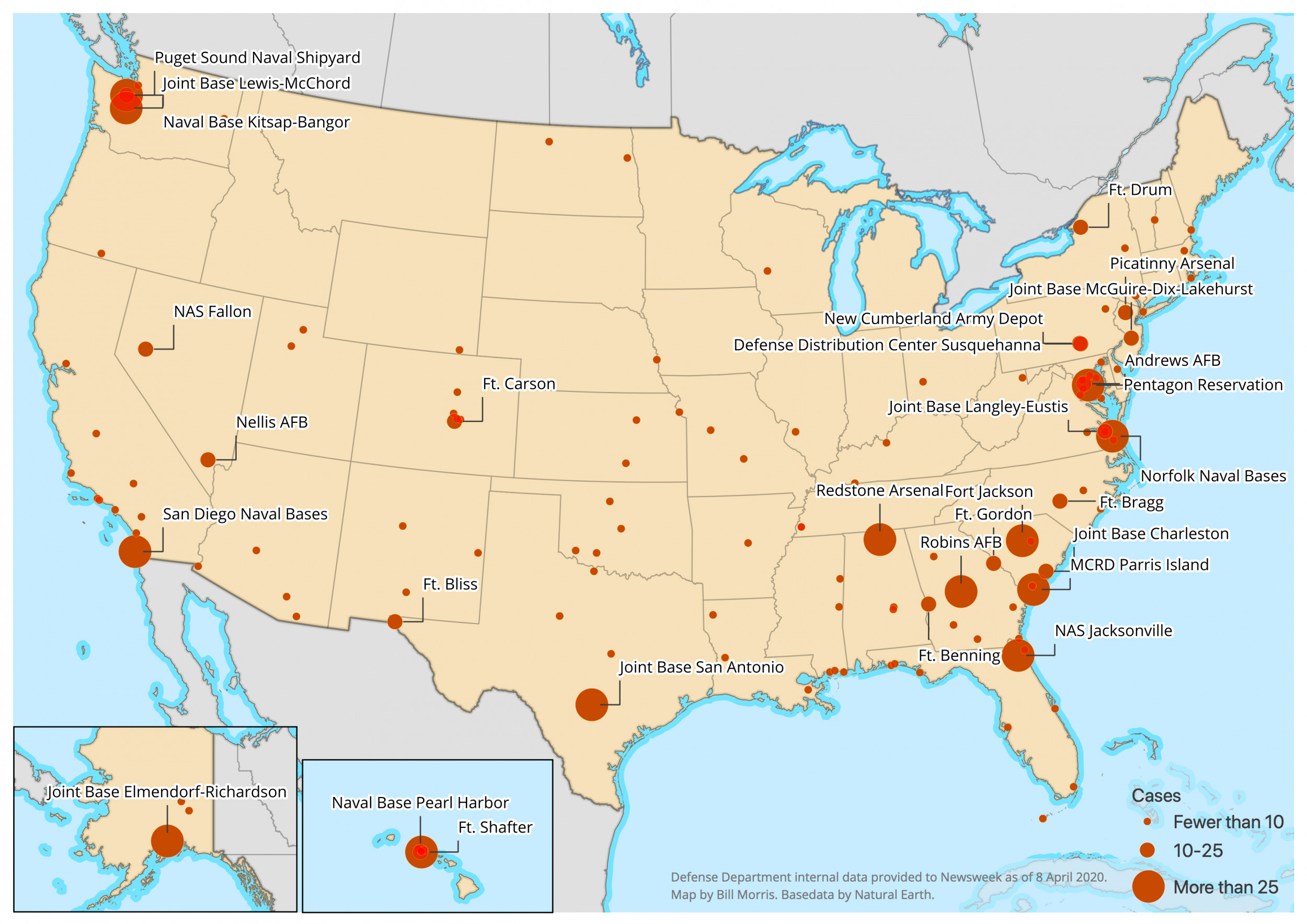 Map Of Us Naval Bases Exclusive: Comprehensive Map Shows the Numbers and Locations of