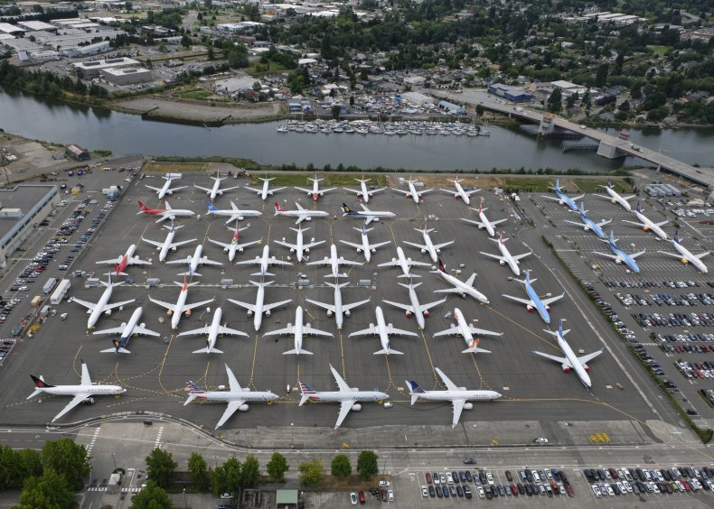 Grounded 737 Max Airplanes at Boeing