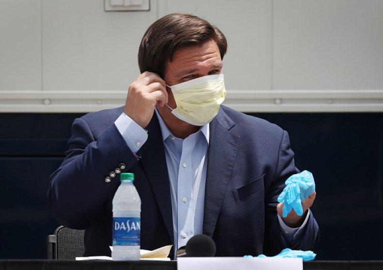 Gover Ron DeSantis Protective Mask
