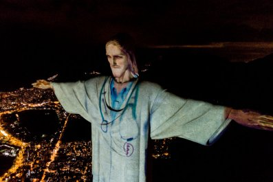 Christ the Redeemer COVID-19 tribute