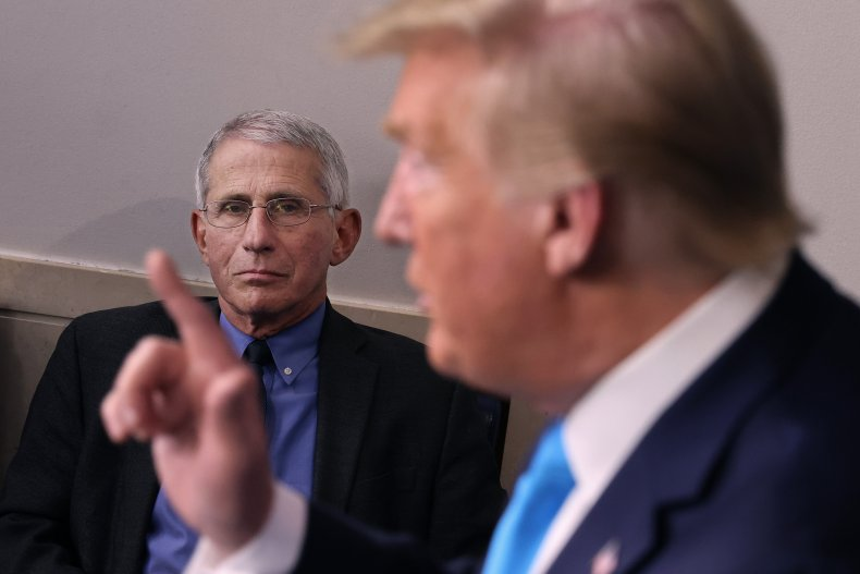 donald trump anthony fauci firing white house