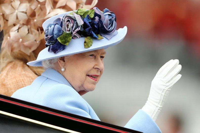 Queen Elizabeth II Waves at Ascot
